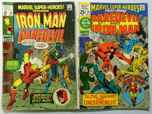 Marvel Super Heroes (1st Series) Iron Man + Daredevil, Average 4.0 (1970+1971)