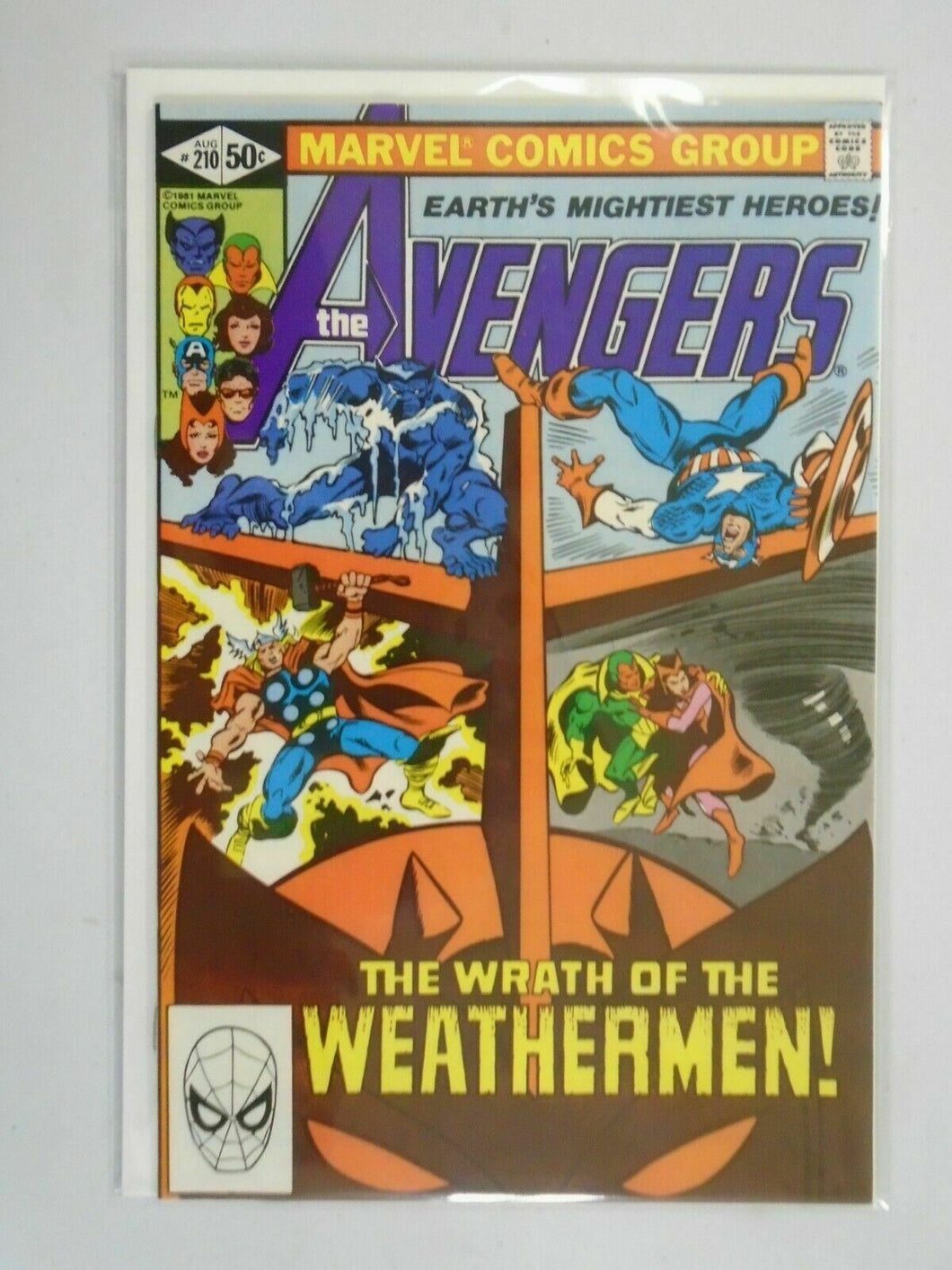 Avengers #210 Direct edition 8.5 VF+ (1981 1st Series)