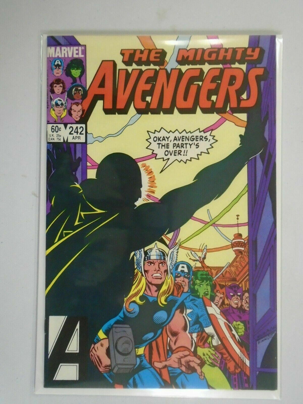 Avengers #242 Direct edition 8.5 VF+ (1984 1st Series)