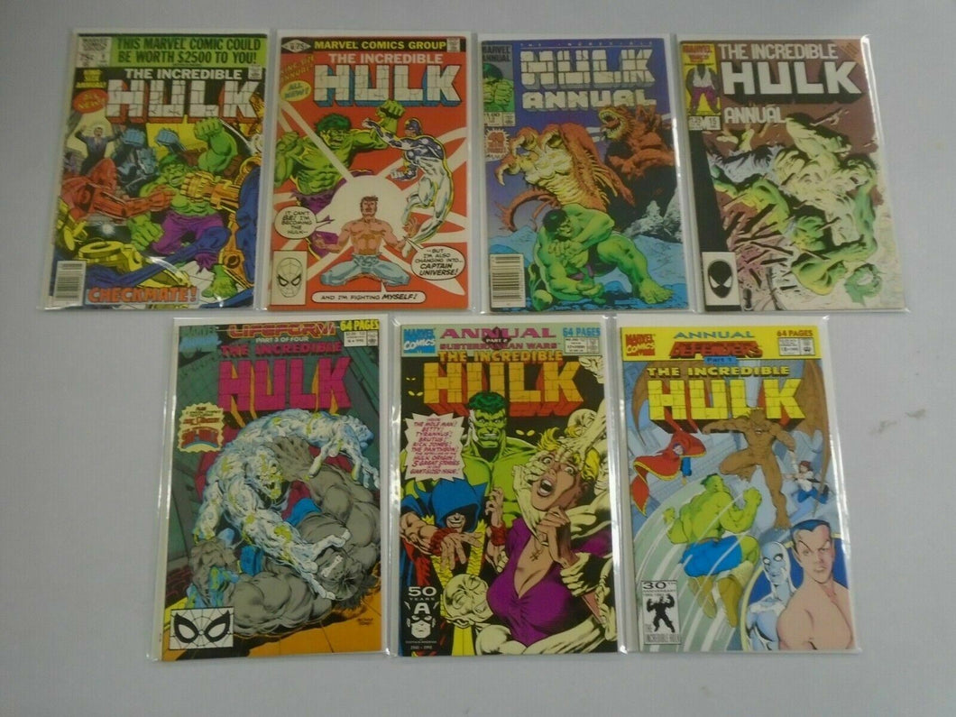 Incredible Hulk Annual lot 7 different 6.0 FN (1980-92 1st Series)
