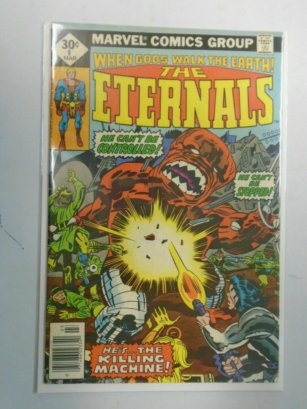 The Eternals #9 Direct edition 4.0 VG (1977 1st Series)