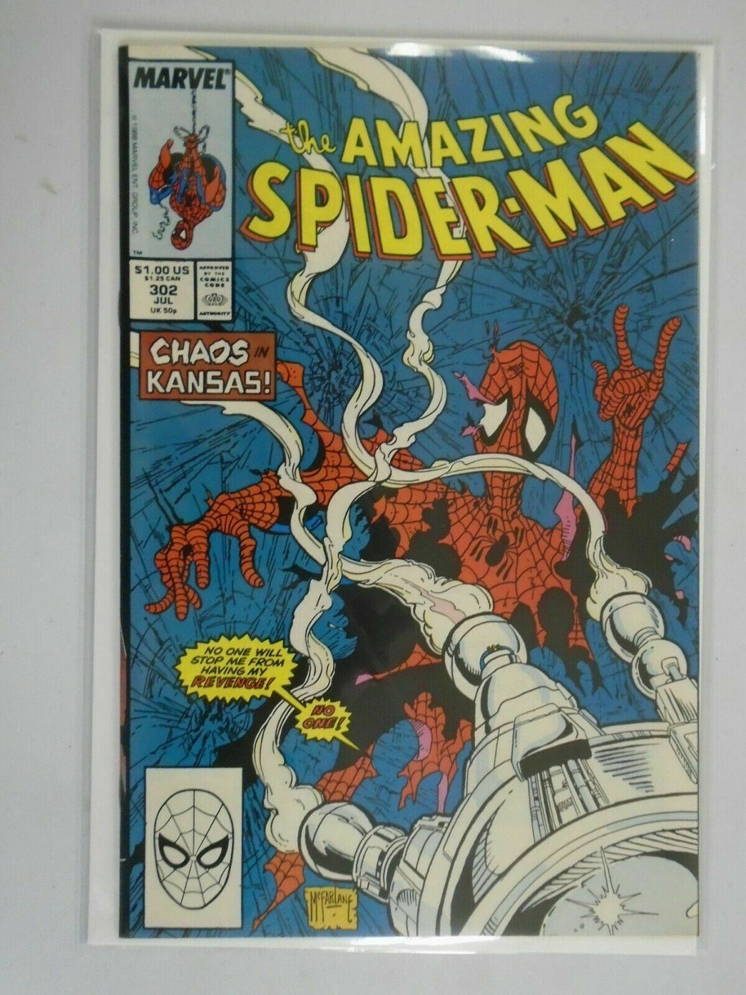 Amazing Spider-Man #302 Direct edition 7.5 VF- (1988 1st Series)
