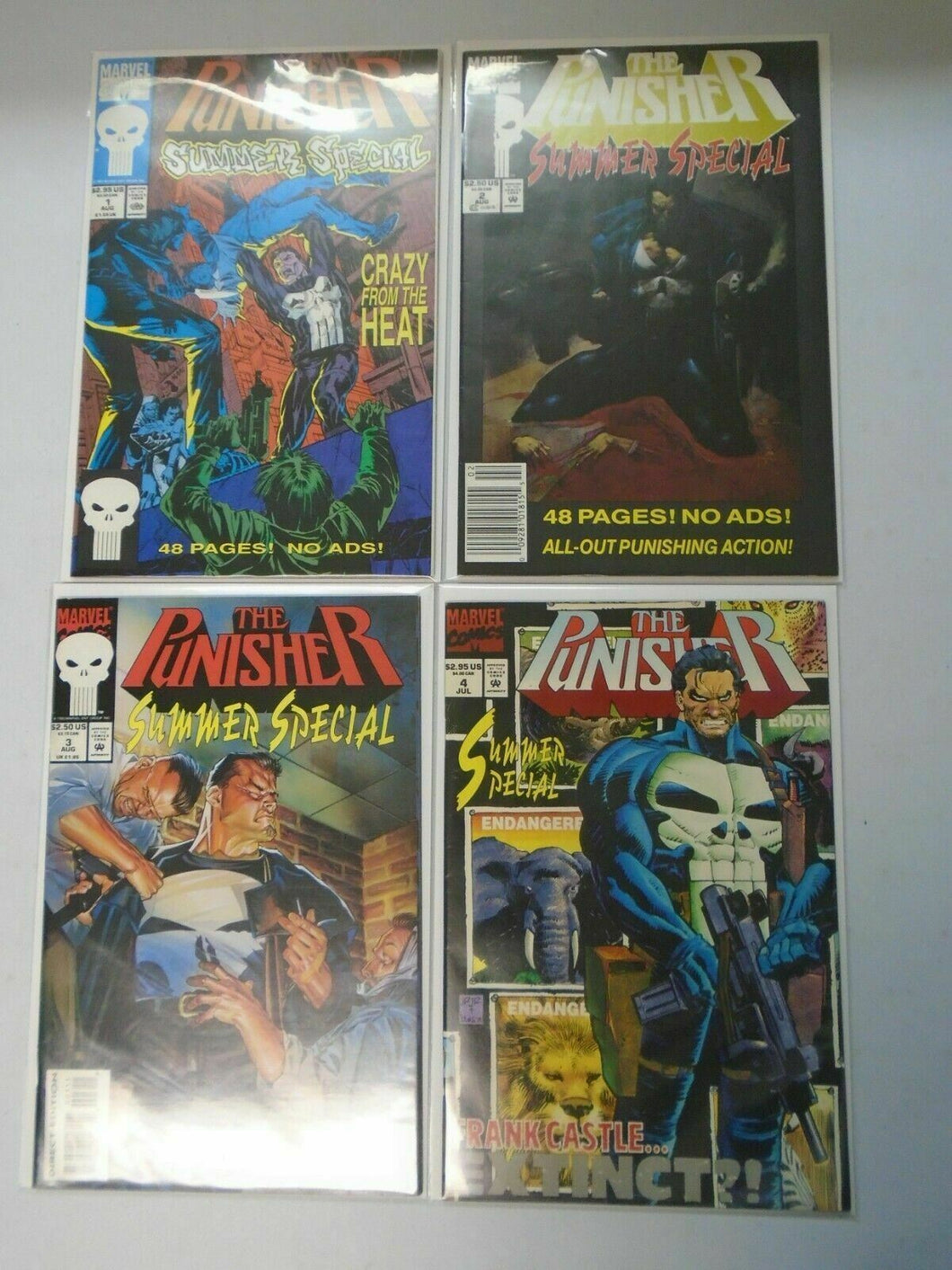 Punisher Summer Special set #1-4 8.0 VF (1991)