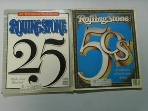 Rolling Stone Magazine Anniversay Specials lot 4 different (1990-92)