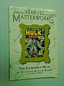Marvel Masterworks Incredible Hulk #8 - corner shelf wear