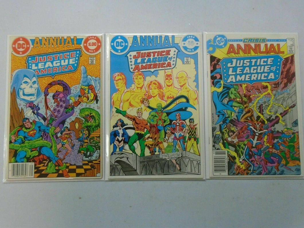 Justice League of America Annuals #1-3 8.5 VF+ (1983-85 1st Series)
