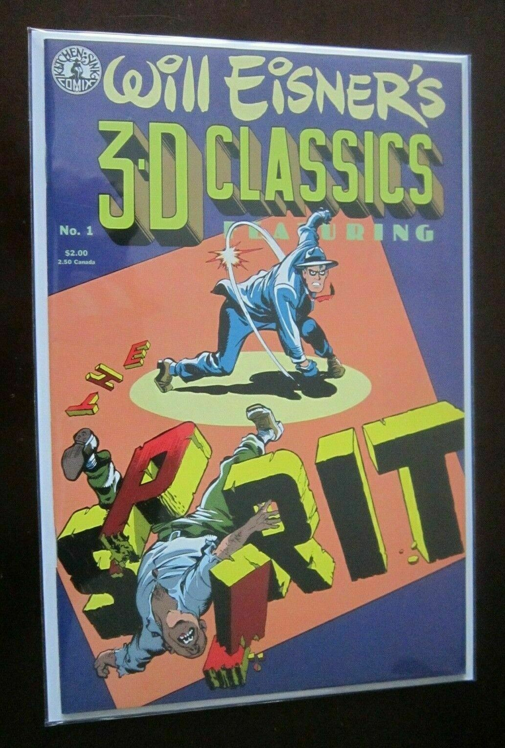 Will Eisner's 3D Classics Featuring The Spirit #1 B no glasses 8.0 VF (1985)