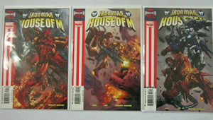 Iron Man House of M #1 and #2 and #3 set of 3 books 6.0 FN (2005)