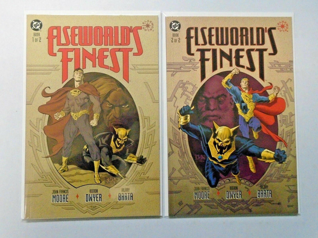 Elseworld's Finest set #1 to #2 8.5 VF+ 2 different books (1997)