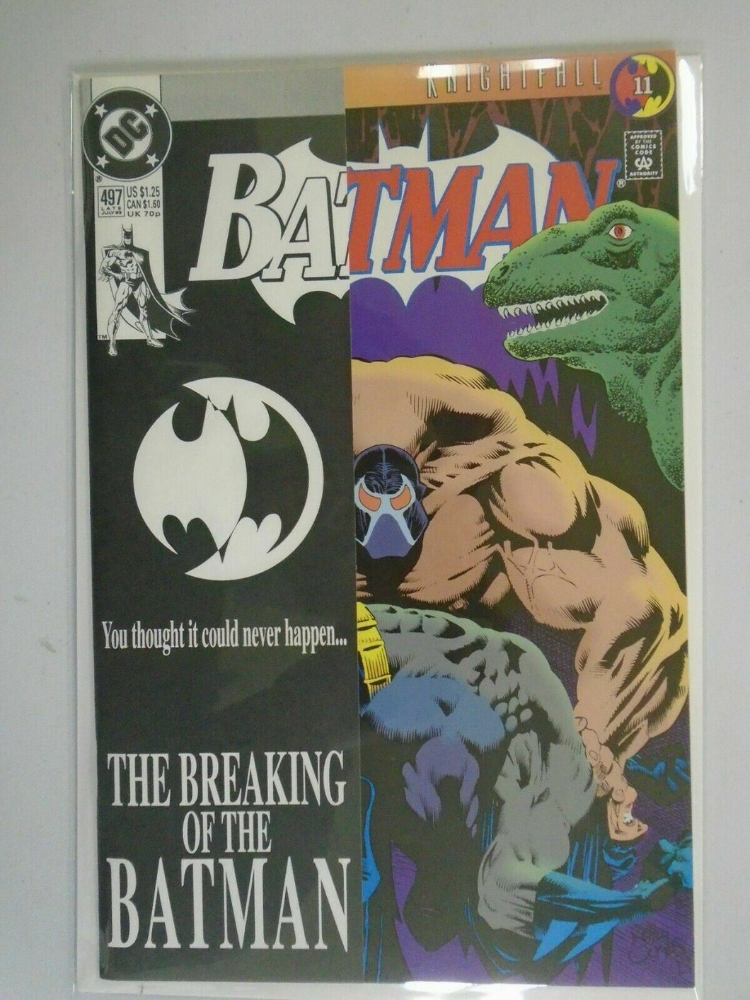 Batman #497 Direct edition 8.5 VF+ (1993)