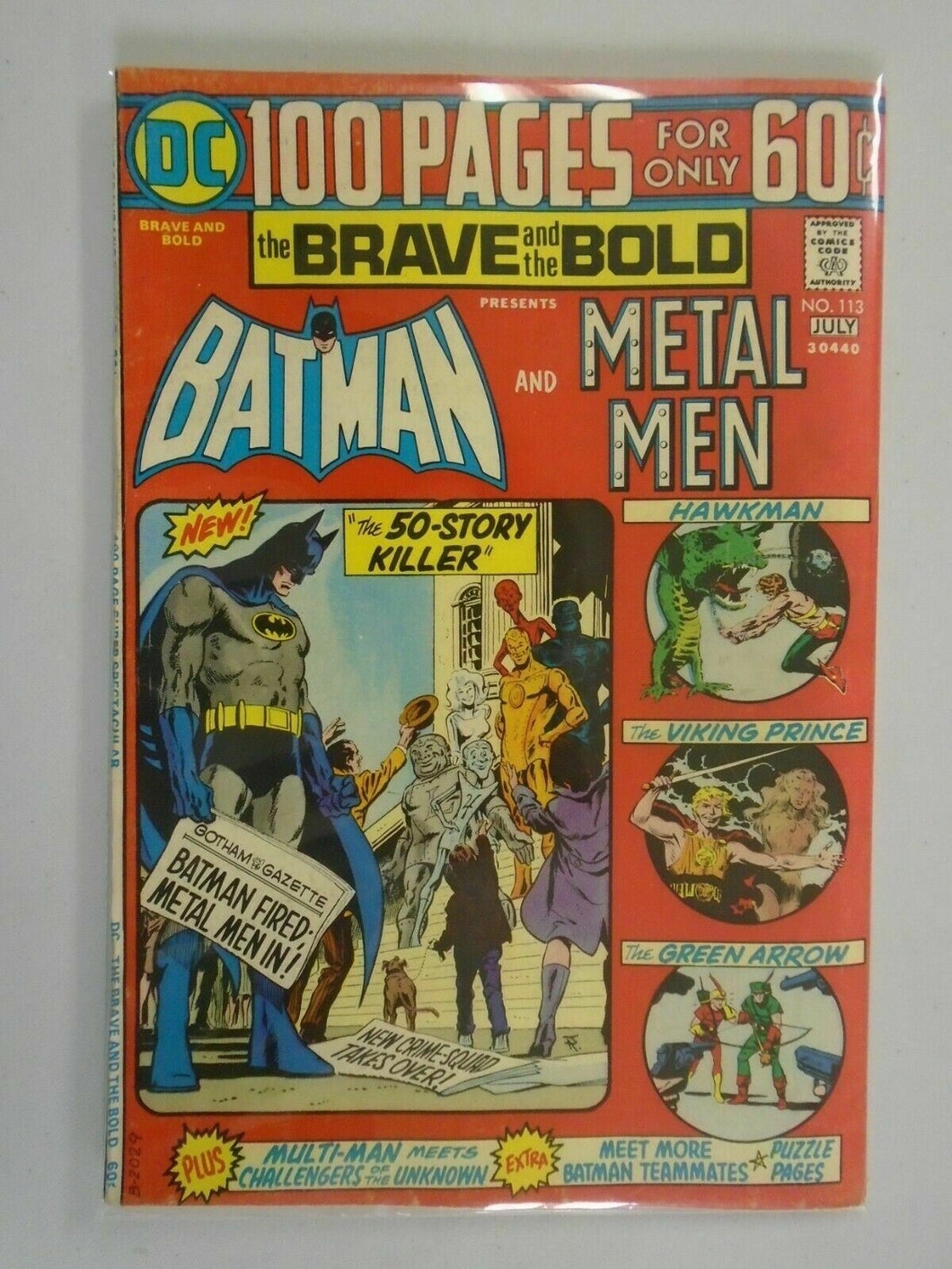 Brave and the Bold #113 4.0 VG (1974 1st series)