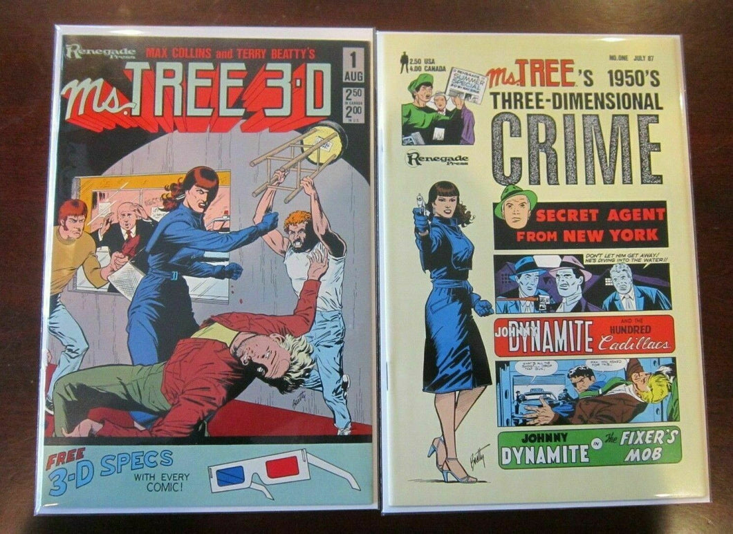 Ms. Tree 3D comic lot from:#1-2 all 2 are #1s no glasses 9.0 NM (1985)