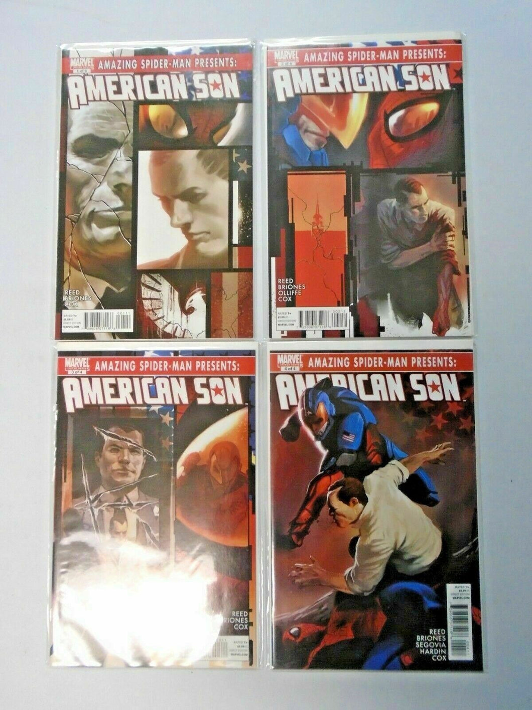 Amazing Spider-Man Presents American Son set #1 to #4 8.0 VF 4 different (2010)