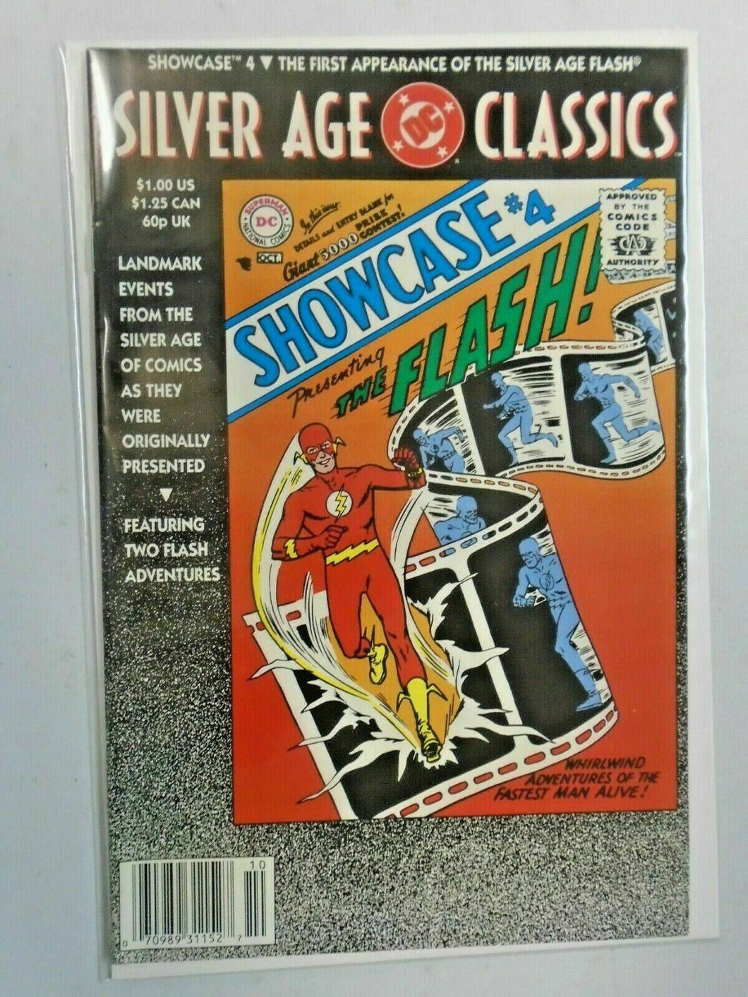 DC Silver Age Classics Showcase #4 Flash 8.0 VF (1992)