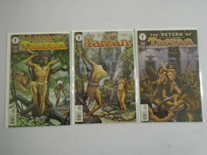 Tarzan The Return of Tarzan set #1-3 6.0 FN (1997 Dark Horse)