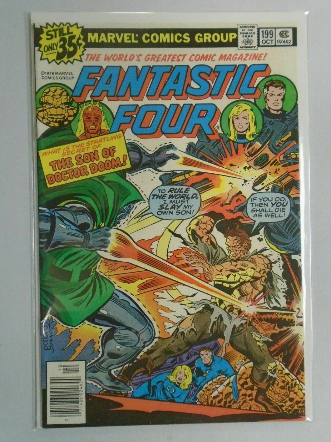 Fantastic Four #199 News Stand edition 8.0 VF (1978 1st Series)