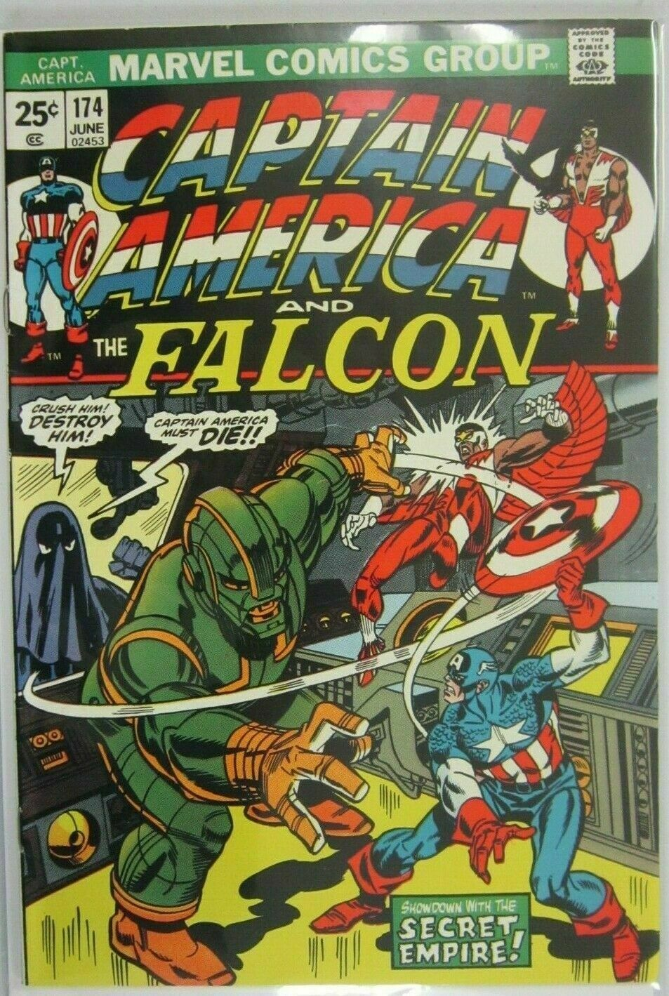 Captain America and The Falcon #174 - 5.5 FN- (1974)