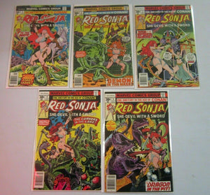 Red Sonja #1-5 1st series FN 6.0 (1977)