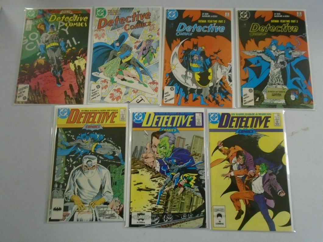 Detective Comics lot 21 different from #568-600 8.0 VF (1986-89 1st Series)