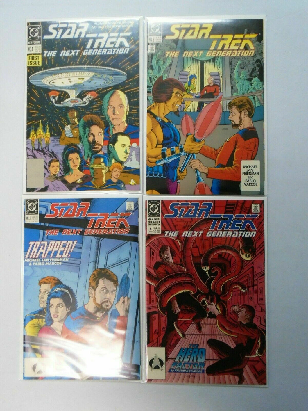 Star Trek The Next Generation (2nd Series) Set:#1-4, Average 8.0/VF (1989)