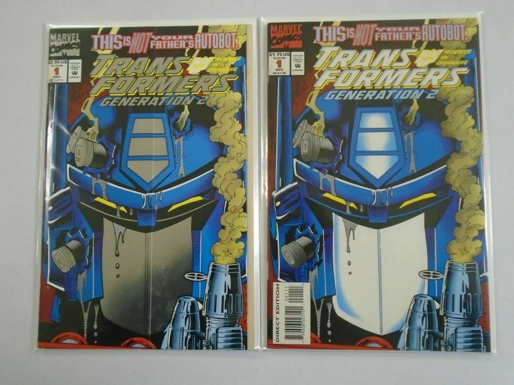 Transformers Generation 2 #1 Direct + Newsstand editions 8.0 VF (1993)