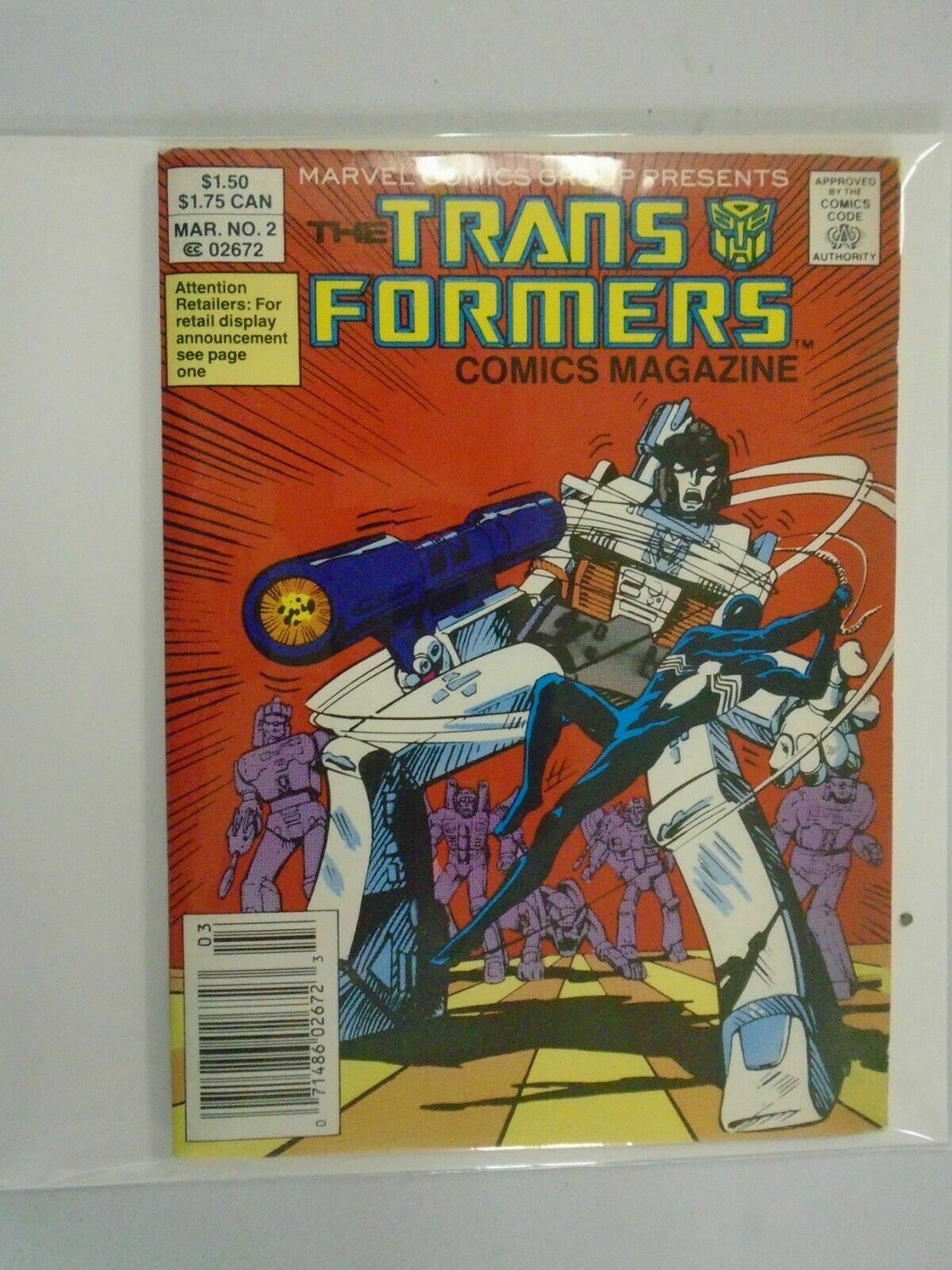 Transformers Comic Magazine Digest #2 6.0 FN (1987 Marvel)