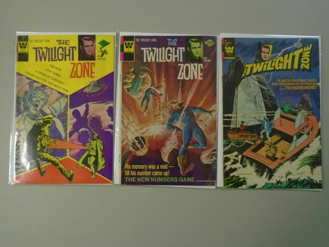 Twilight Zone lot #60,69,92 last issue 4.0 VG (1974-82 Whitman)
