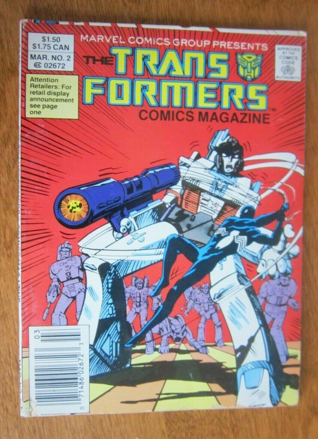 Transformers Comic Magazine Digest #2 4.0 VG (1987)