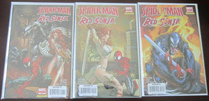 Spider-man Red Sonja comics set:#1-5 8.0 VF (2007)