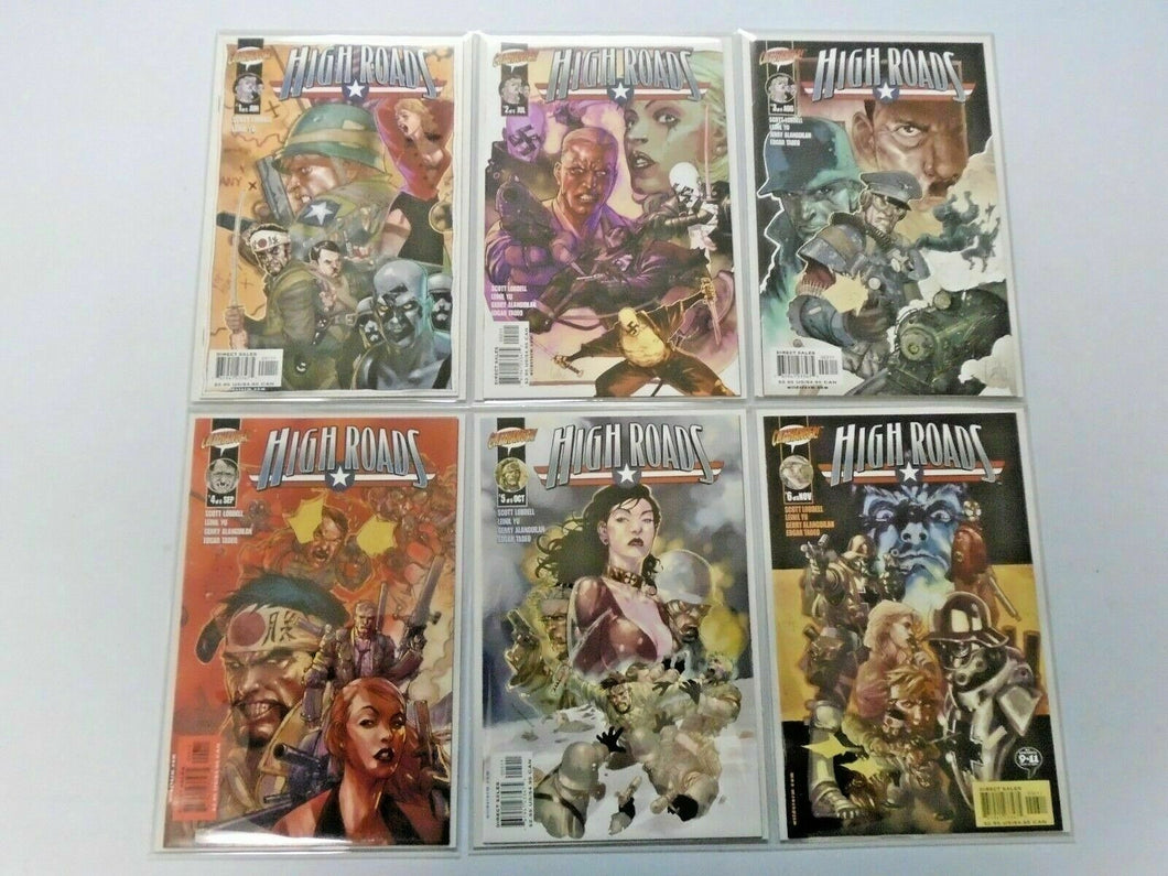 High Roads set #1 to #6 NM 6 different books Mylar sleeve sharp corners (2002)