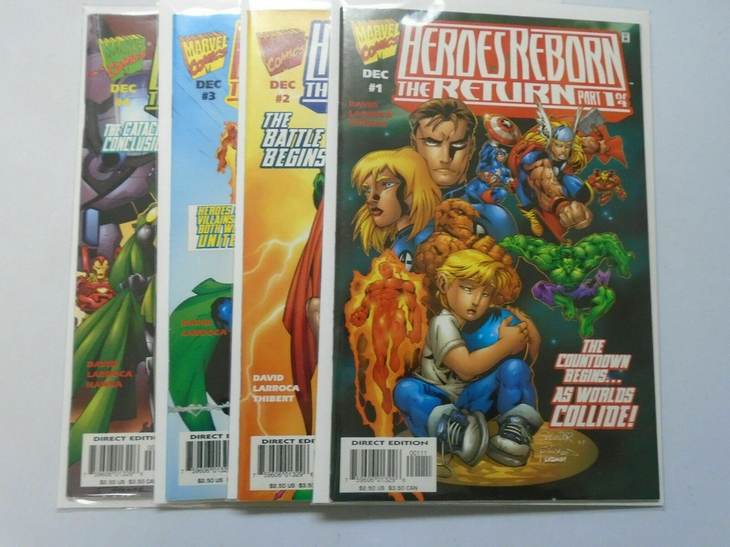Heroes Reborn The Return, SET:#1-4, 8.0/VF, DIRECT EDITION (1997)