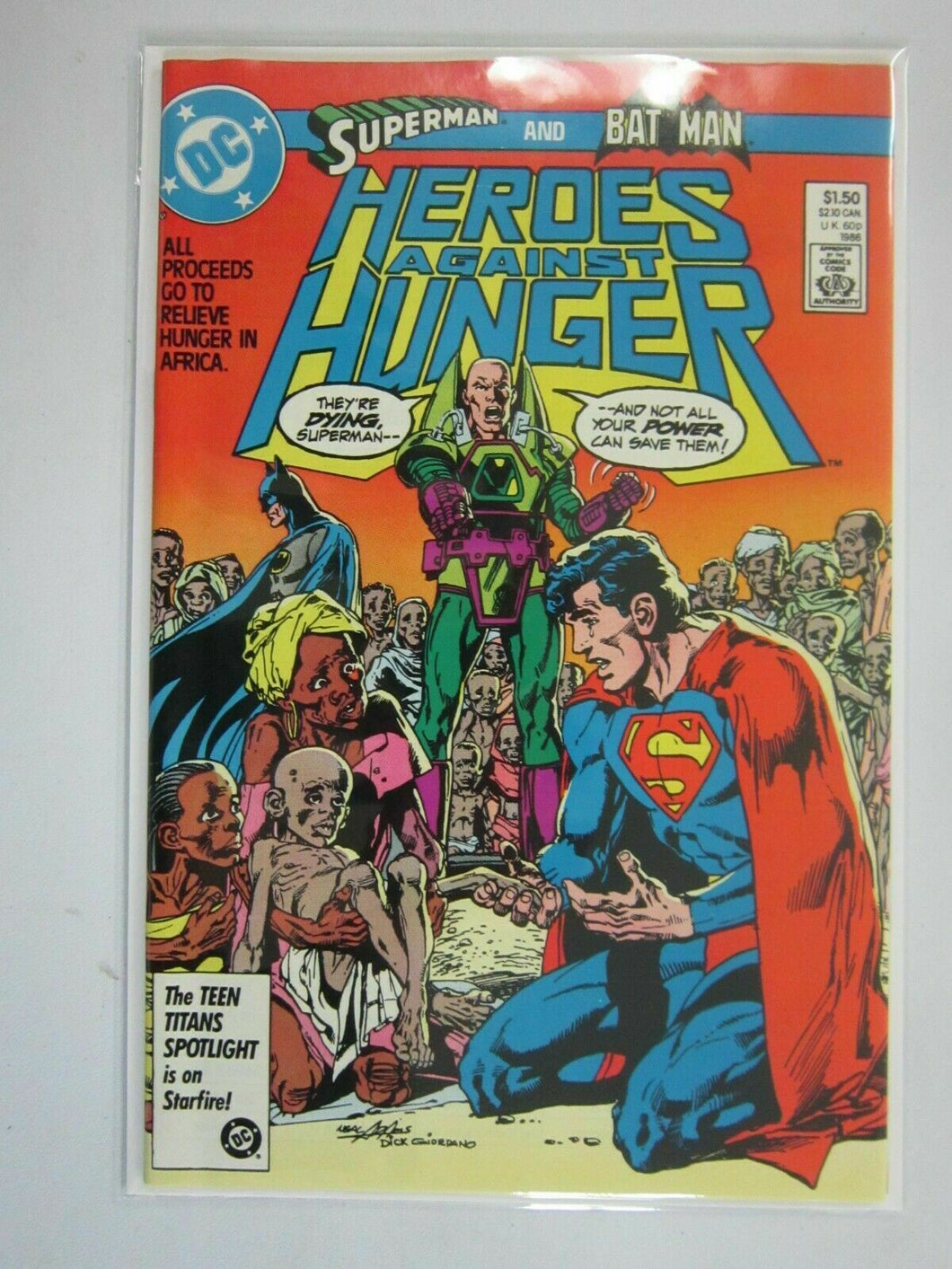 Heroes Against Hunger #1 6.0 FN (1986)