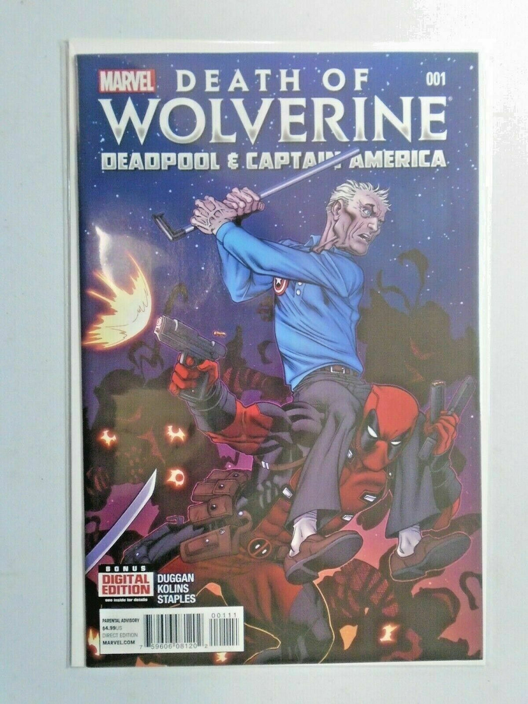 Death of Wolverine Deadpool and Captain America #1 - NM - 2014