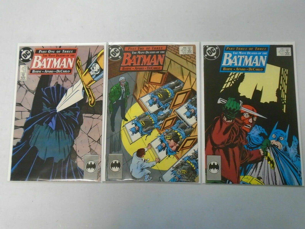 Batman run #433-435 The Many Deaths of the Batman 8.0 VF (1989)