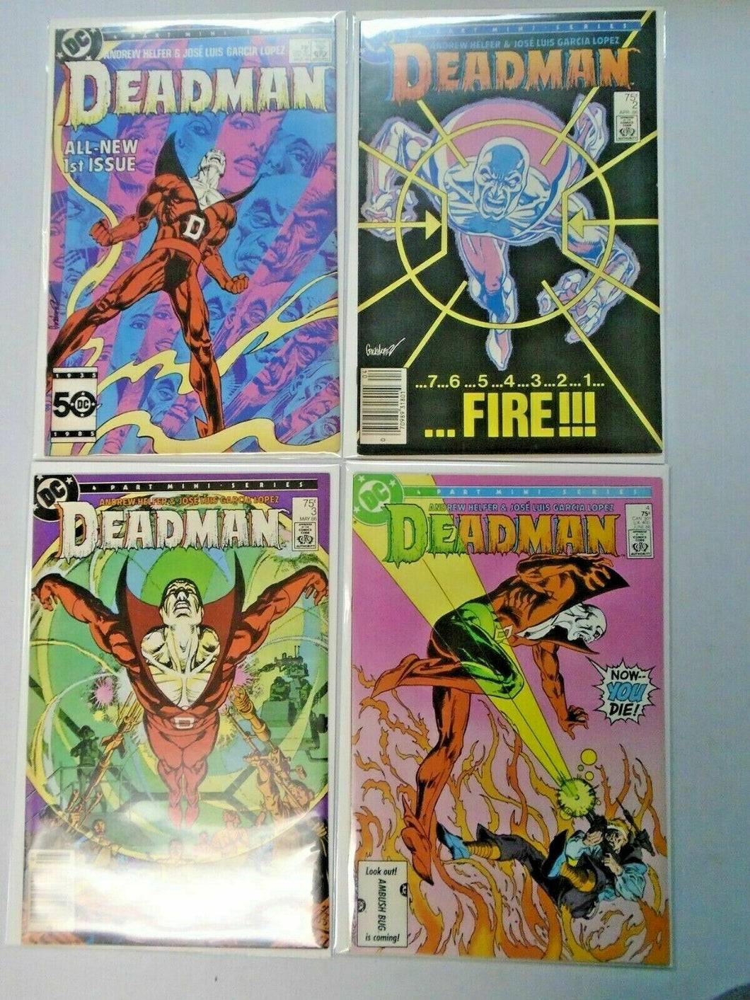 Deadman set #1-4 2nd series 8.0 VF (1986)