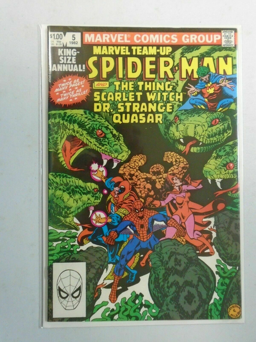 Marvel Team-Up Annual #5 Direct edition 8.0 VF (1982 1st Series)