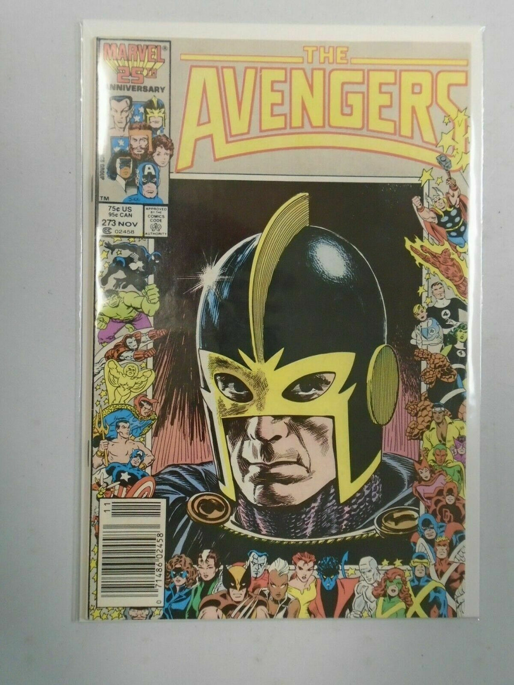 Avengers #273 Marvel 25th anniversary cover 8.0 VF (1986)