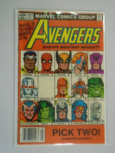 Avengers #221 Newsstand edition 6.0 FN (1982 1st Series)