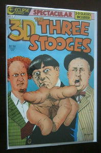 3D Three Stooges #1 N no glasses 9.0 NM (1986)
