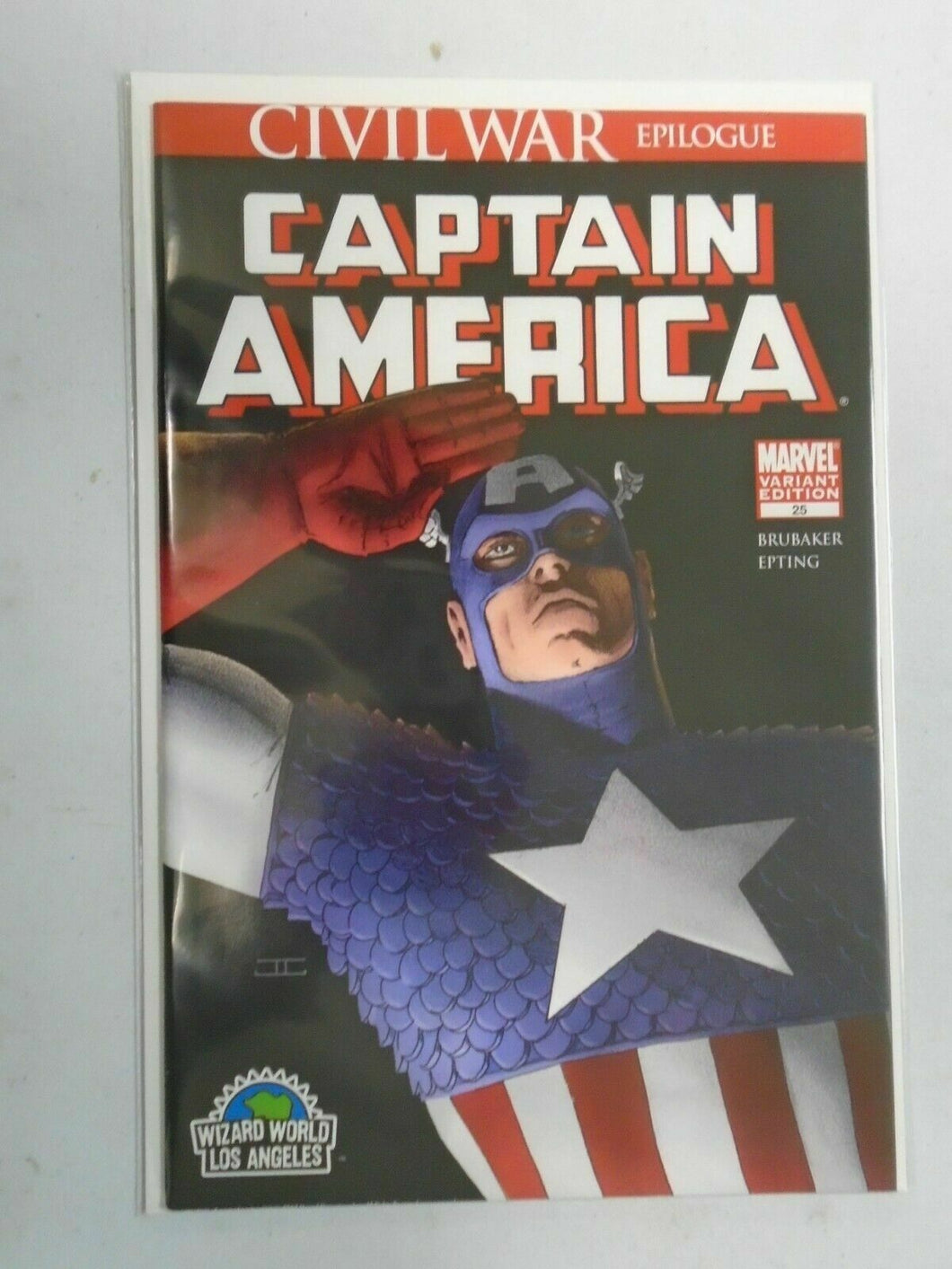 Captain America #25 E Wizard World L.A. edition 8.0 VF (2007 5th Series)