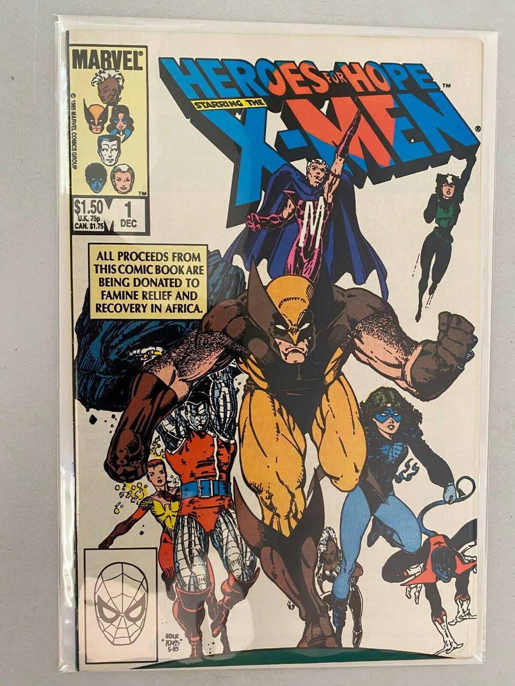 Heroes for Hope Starring the X-Men #1 Direct edition 6.0 FN (1985)