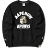 AAPE CTN/POLY FLEECE  CREW
