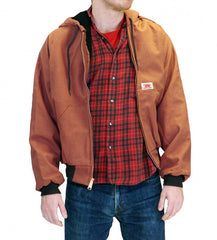 American Made Jacket Brown Duck Hooded