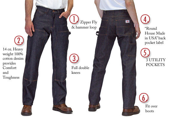 American Made Jeans Double Front Carpenter 14 Oz Jean Made