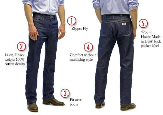 1951 American Made Jeans Cowboy Slim Fit 14 Oz Jeans Made