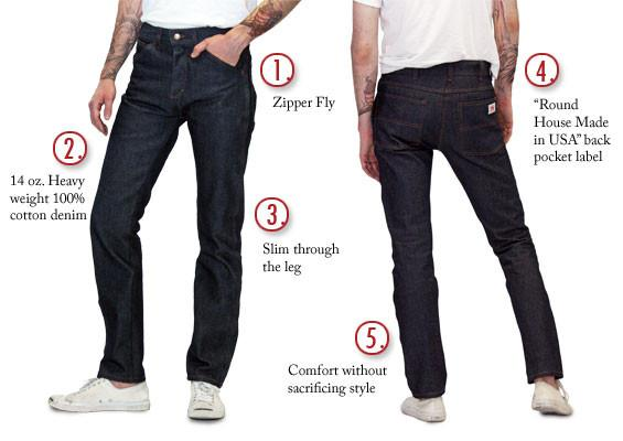 American made jeans slim fit 14 oz jeans made in usa 147 round house american made jeans House jeansy