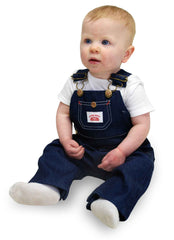 #7 Made in USA Kids Premium Blue Denim Bib Overall