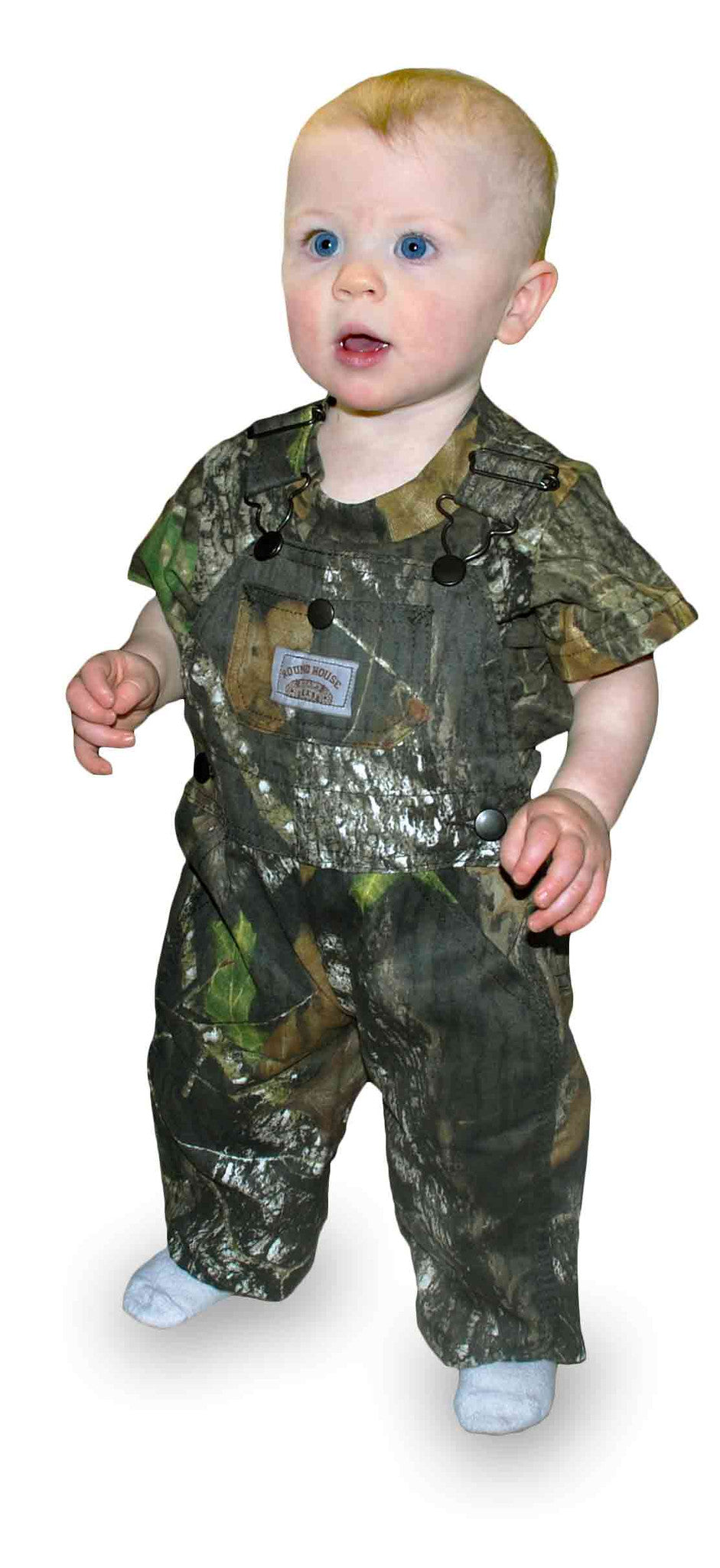 #177 Mossy Oak Break-Up Kids BIB OVERALL Made in USA