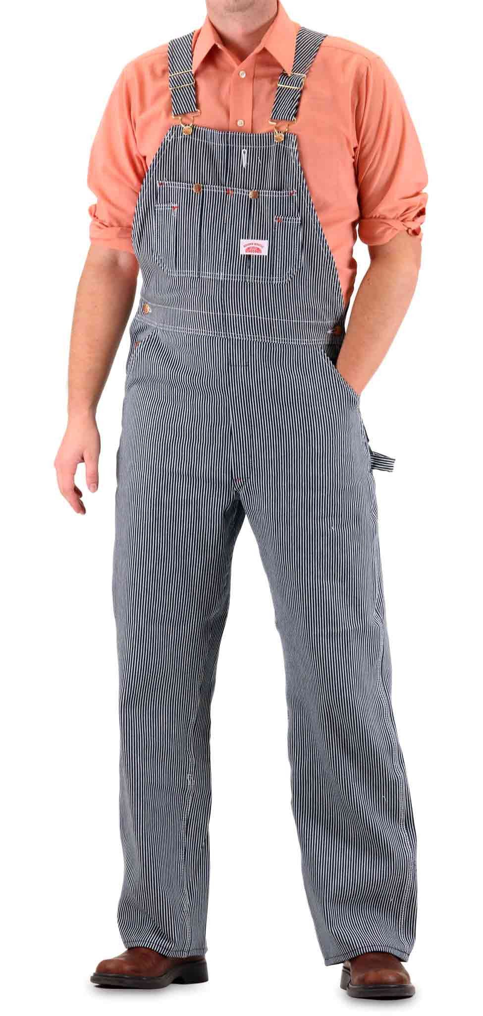 8384476c0d5 Vintage Hickory Stripe American Made Overalls Made in USA Bib ...