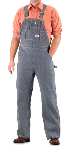 Overalls Are Making A Comeback As The Latest Fashion Trend: Vintage Hickory Stripe American Made Overalls Made In USA